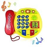 Tmox 3-12 Mesi Giocattolo Bambina, Giocattolo per Telefono da 1-3 Anni Regalo Giocattolo retrò per 9-18 Mesi Ragazzo Giocattolo 12-24 Mesi Giocattolo Musicale per Bambini Giocattolo del Regalo