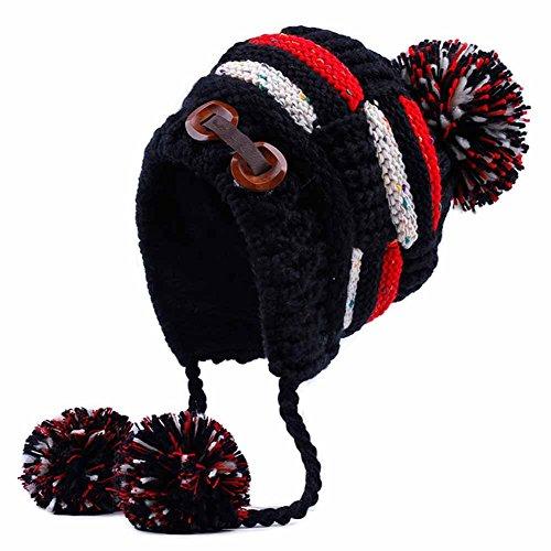 Blancho Bedding Gruesa Gorros Invierno de Las Mujeres del oído Sombrero Caliente Tejer Sombrero de esquí del Casquillo del Sombrero del