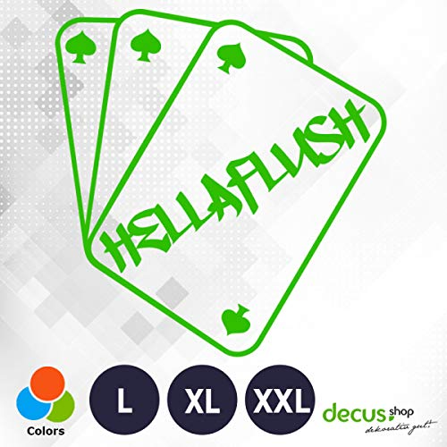 Decus HELLAFLUSH kaarten 1948 // sticker OEM JDM Style sticker XXL (ca. 60x55 cm) groen