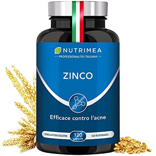 Zinco Citrato 40 Mg   Integratore Con 12,5 Mg Di Zinco Elemento (Zn) Per Capsula   Altissimo Assorbimento   Integratore Alimentare Antiossidante Pelle E Acne 120...