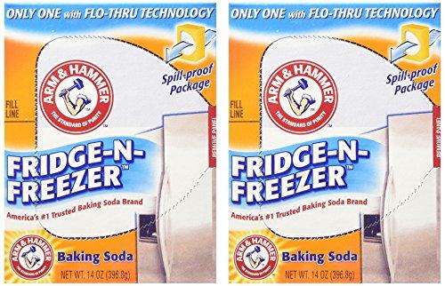 Arm & Hammer Baking Soda, Fridge-N-Freezer Pack, Odor Absorber, 14 oz - 2 Pack