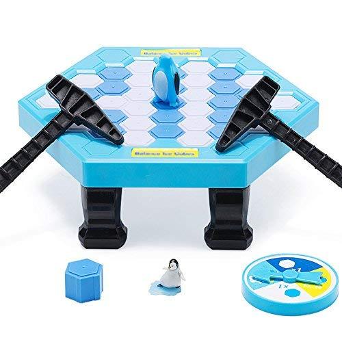 Cupcinu Pinguin-Falle Eisbrecher Spiel Balance Eiswürfel Sparen Pinguin Spiel Puzzle Tisch Desktop Spiel Schlagen Interaktives Teil Familie Strategiespiel - 22.5 * 20 * 7.5cm