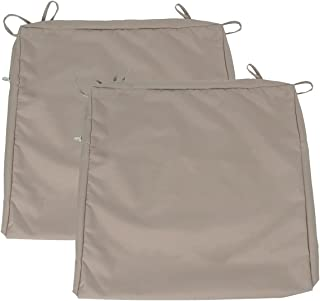 """Leeymoo Large Patio Chair Seat Cushion Covers, Outdoor Seat Cushion Covers-Only Covers (24""""x24""""x4"""" 2 Pack Beige)"""