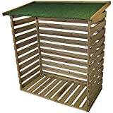 Woodside Treated Wooden Heavy Duty Log Store Garden Storage Shed