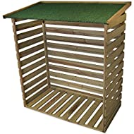 STORAGE - The Woodside log storage shed is the perfect place to store your firewood. DAMP PREVENTION - The floor is raised to prevent damp and wooden slats for air circulation. WEATHER PROTECTION - Felt roof for weather protection, waterproof stained...