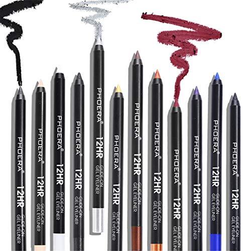Nourich Multi-couleur Eyeliner Pen Cosmétique Liquid Eye Liner Crayon Composent Outil imperméable à l'eau Doublure à lèvres longue durée Eyeliner Durable Stylo maquillage des yeux (11#)