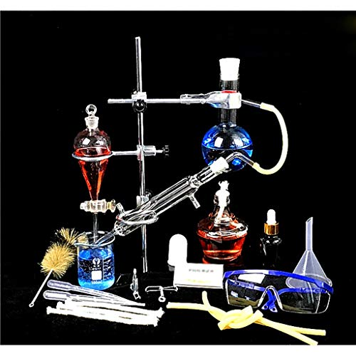 LBWT Kleines Destillationsgerät, Laborglaswaren, Haushalt Ätherisches Öl Destillationsgerät, Reine Tau Reinigung, Schule Chemical Experiment Ausrüstung (Size : 250ml)