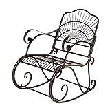 Bonnlo Garden Metal Rocking Chair Outdoor Patio Vintage Style Bronze