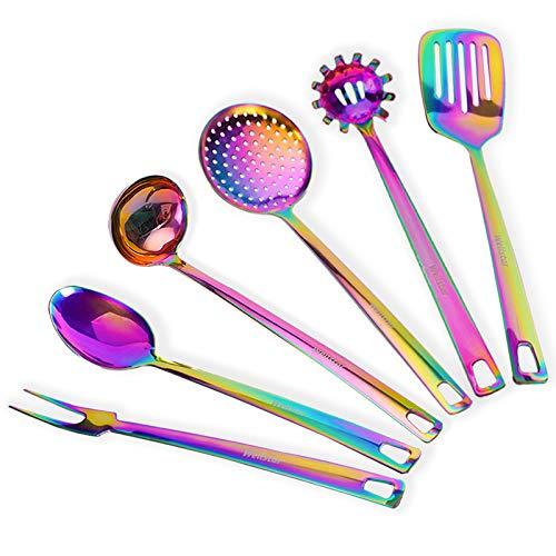 WELLSTAR Juego de utensilios de cocina, juego de 6 piezas, e