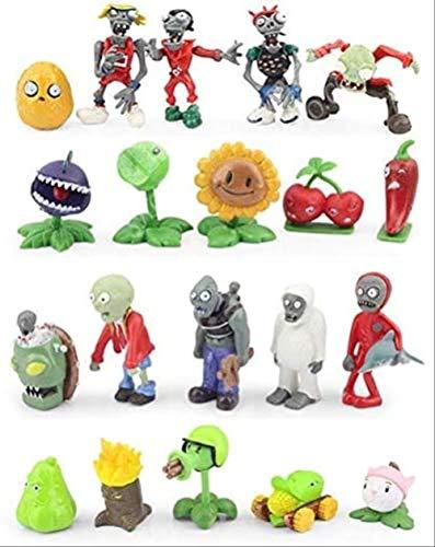 Mipojs 20 Stück / Set Pflanzen Vs Zombies Figuren Spielzeug PVZ Collection Figuren Toy Zombies Figur Spielzeug Puppe Geschenk Für Kinder