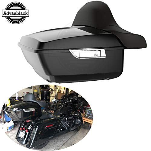 Best Deals! Advanblack Vivid/Glossy Black King Tour Pak Pack Trunk Fit for Harley Touring Road Glide...