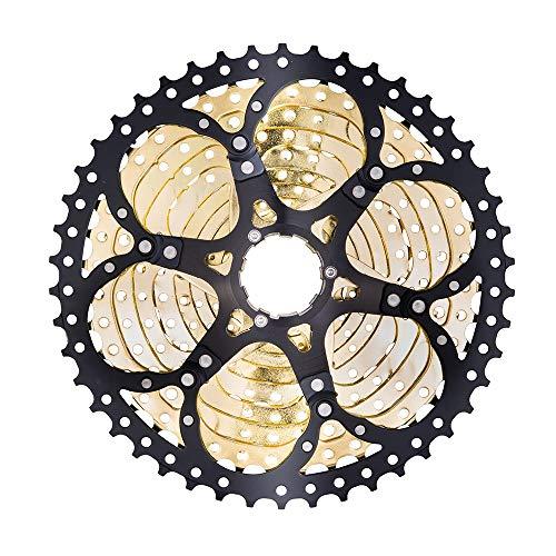 Ruedas libres MTB 12 Cassette de velocidad Black Gold 12S 11-52T Relación ancha FreeWheel Bicicleta de montaña Piezas de bicicleta Pistas de bicicletas para K7 X1 XO1 XX1 M9000 ( Color : 12S 11 52T )