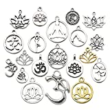 WOCRAFT 100g Craft Supplies Small Antique Silver Animals Charms Pendants for Crafting, Jewelry