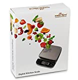 Easy@Home Scala Alimenti/Bilancia da cucina con alta precisione alla capacità 0.04oz e 11 libbre, digitale multifunzione scala di misurazione
