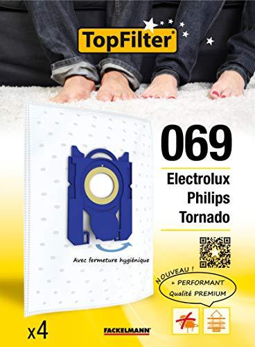 Top Filter 64069 - Bolsa para aspiradoras Philips/Electrolux/Tornado (material no tejido)