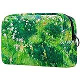 Estuche cosméticos Viaje portátil Organizador Bolsas Maquillaje Claude Monet Crisantemo Cremallera Bolsillo Grande Almacenamiento