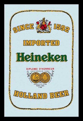 Empire Merchandising 601131 Beer Heineken Logo - Espejo Serigrafiado (Marco de plástico, 20 x 30 cm)