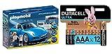 Playmobil Porche - Réplica del Porche 911 Targa 4S Playset, Multicolor, 9,5 x 24,8 x 34,8 cm (5991) + Duracell - Ultra AAA con Powerchek, Pilas Alcalinas (Paquete de 12) 1.5 Voltios