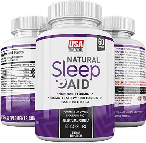 Natural Sleep Aid Pills - for Adults Extra...