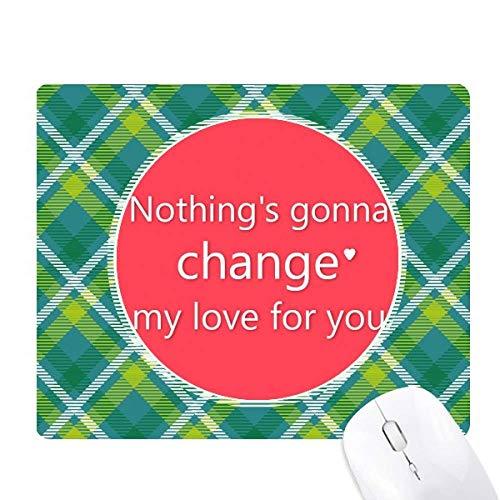 rien ne changera mon amour réseaux verte grille pixel tapis de souris