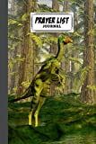 """Prayer List Journal: A Daily Record Notebook for Prayers With Dilong Dinosaurs Cover Design, 120 Pages, Size 6"""" x 9"""" by Simone Bach"""