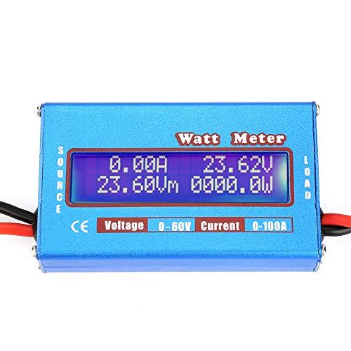 0-100A 0-60V Wattmeter hochpräziser DC-Leistungsanalysator mit digitalem LCD-Bildschirm für Energie (AH) Strom (W) Strom (A) und Spannung (V)