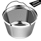 8-12 Cup Reusable Basket Permanent Coffee Filters, Perfect Fit for 8-12 Cup Mr. coffee, Black and Decker Krups Basket-Style Coffee Maker Filters and Basket Paper Filters (Mr.coffee)