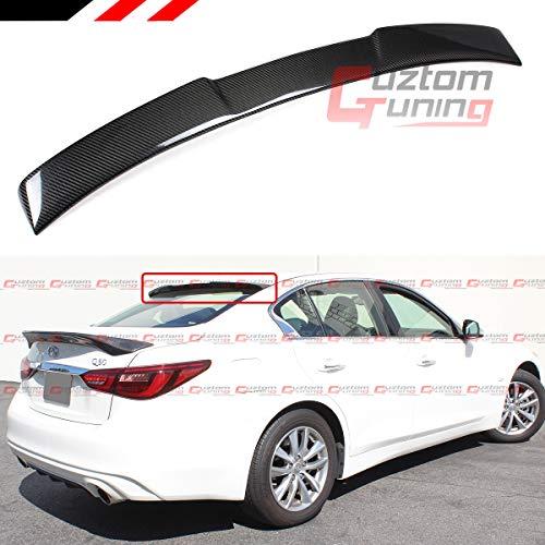 Cuztom Tuning Fits 2014-2020 Infiniti Q50 VIP M Style Carbon Fiber Rear Roof Window Spoiler