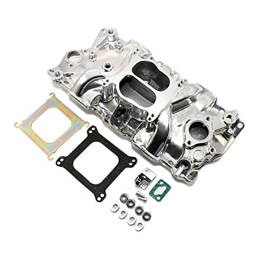 Assault Racing Products PC2000 Small Block Chevy Polished Dual Plane Aluminum Intake Idle-5500 RPM SBC 283 305 327 350