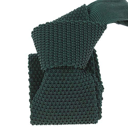 Tony & Paul - Cravate Tricot Vert Cipresso, Soie