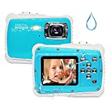 Kids Camera,12MP HD 3M Kids Waterproof Camera with 2.0 Inch LCD Display, 8X