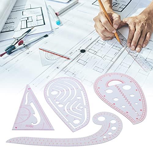 Regla de patrón Multifuncional, Juego de Regla de medición de Ropa, Herramientas de Costura, Regla de Curva de Jaula, Regla de Costura, Multifuncional para diseñadores para la creación de