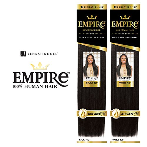 "2-Pack Deal ! Sensationnel Human Hair Weave Empire Yaki Weaving (10"", 1)"