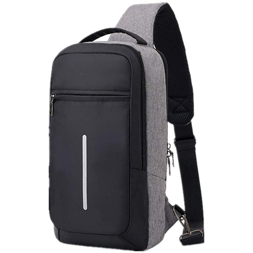 話をする画像茎ショルダーバッグ メンズ ボディバッグ USBポート搭載 左右肩かけ 軽量 防水 大容量 斜めかけ ワンショルダー 通勤 通学 旅行 バック
