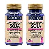 SANON Concentrado De Soja Rico En Isoflavonas - 2 Botes De 100 Cápsulas Con Zinc Y Vitamina B6-40 Mg De Isoflavonas Por Cápsula, color Azul, 100 Unidad, 150 g