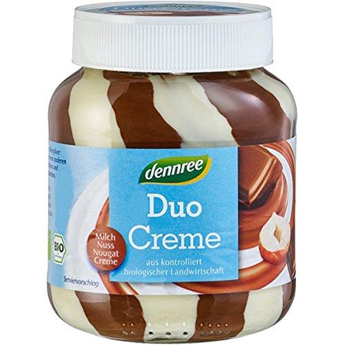 dennree Milch- & Nuss-Nougat-Duo-Creme (400 g) - Bio