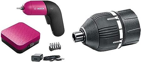 ボッシュ(BOSCH) 電動ドライバー コードレス 充電式 LEDライト 無段変速 正逆転切替 家具の組み立て DIY (ビット10本・充電器・ケース付き) IXO6 & バッテリードライバーIXO用トルクアダプター...