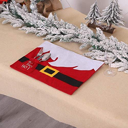 QWE Silla Suave Santa Claus Cubiertas for Comedor Desmontable y Lavable Stretch Persona Protectores Silla Cortos for la decoración de Navidad DOISLL