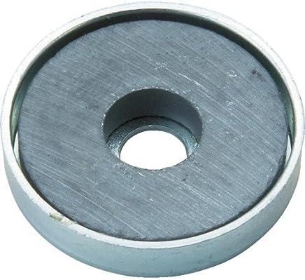 TRUSCO 带盖铁氧体磁石 10个装 外径(mm): 51.5厚み(mm): 7.9穴径(mm): 4.9 TFC52RA10P