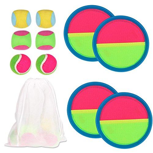 Youth Union Werfen und Fangen Sportspiel Set mit Paddel Runde Tennis Spielzeug Ball Toss und Catch Familie Spiel Bat Ball-Spiel-Set Indoor Outdoor Für Kinder und Erwachsene