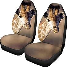 Allcute Giraffe Pet Seat Covers for Cars Personalized Pattern 2PCS Front Bucket for Universal Sedans, SUV, Vans, Trucks