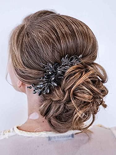 Peines para el pelo de novia con diamantes de imitación plateados, accesorios...