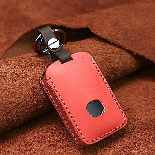 SENDIAYR Funda de Cuero para Llave de Coche, para Mazda 3 Alexa CX4 CX5 CX8 2019 2020 Fob Protector Smart Remote Car Key Case 3 Botones