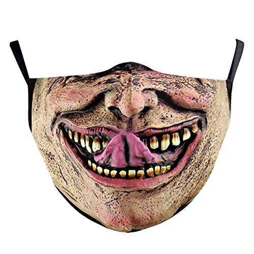 (H) おもしろマスク 面白い 変顔マスク 洗える 布 大人用 Mサイズ 挑発的な顔 悪人 変装 ハロウィン 仮装 被り物 コスプレ 衣装 パーティーグッズ おもしろ雑貨