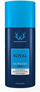 Royal Sapphire Pure Essence Spray by Montwood - perfume for men, 150 ml