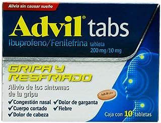 Advil tabs – Ibuprofeno/Fenilefrina 200mg/10mg. 10