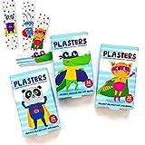 Jellyworks Superhero 0123 - Tiritas para niños, sin látex, hipoalergénicos, lavables, paquete de 2 x 16 unidades, modelos surtidos