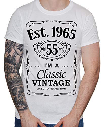 DF 55th Birthday Est. 1964 Vintage Year Homme T-Shirt Blanc M