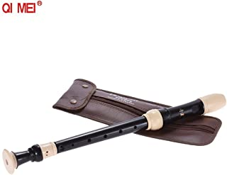 QIMEI QM8A-23G Professional Alto Recorder German Style 8 Hole Key of G Wind Musical Instrument with Cleaning Rod Carrying ...