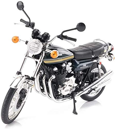 Modelo de Juguete Motocicleta Motocicleta Modelo 1/12 Decoración Juguete, Mejor Regalo para Niños Niños Andales (Color: Azul Oscuro)